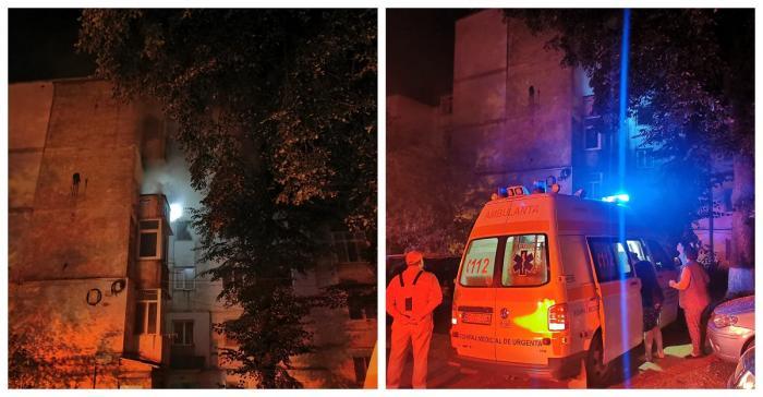 O femeie a suferit un atac de panică în urma incendiului izbucnit în Botoşani