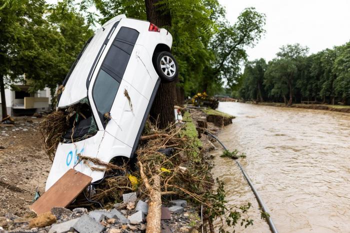 Imagini cu inundaţiile din Germania