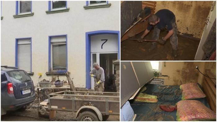 Românii au început să fure din casele evacuate în Germania, după inundaţiile catastrofale