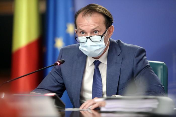 Florin Cîţu, în timpul unei şedinţe de Guvern