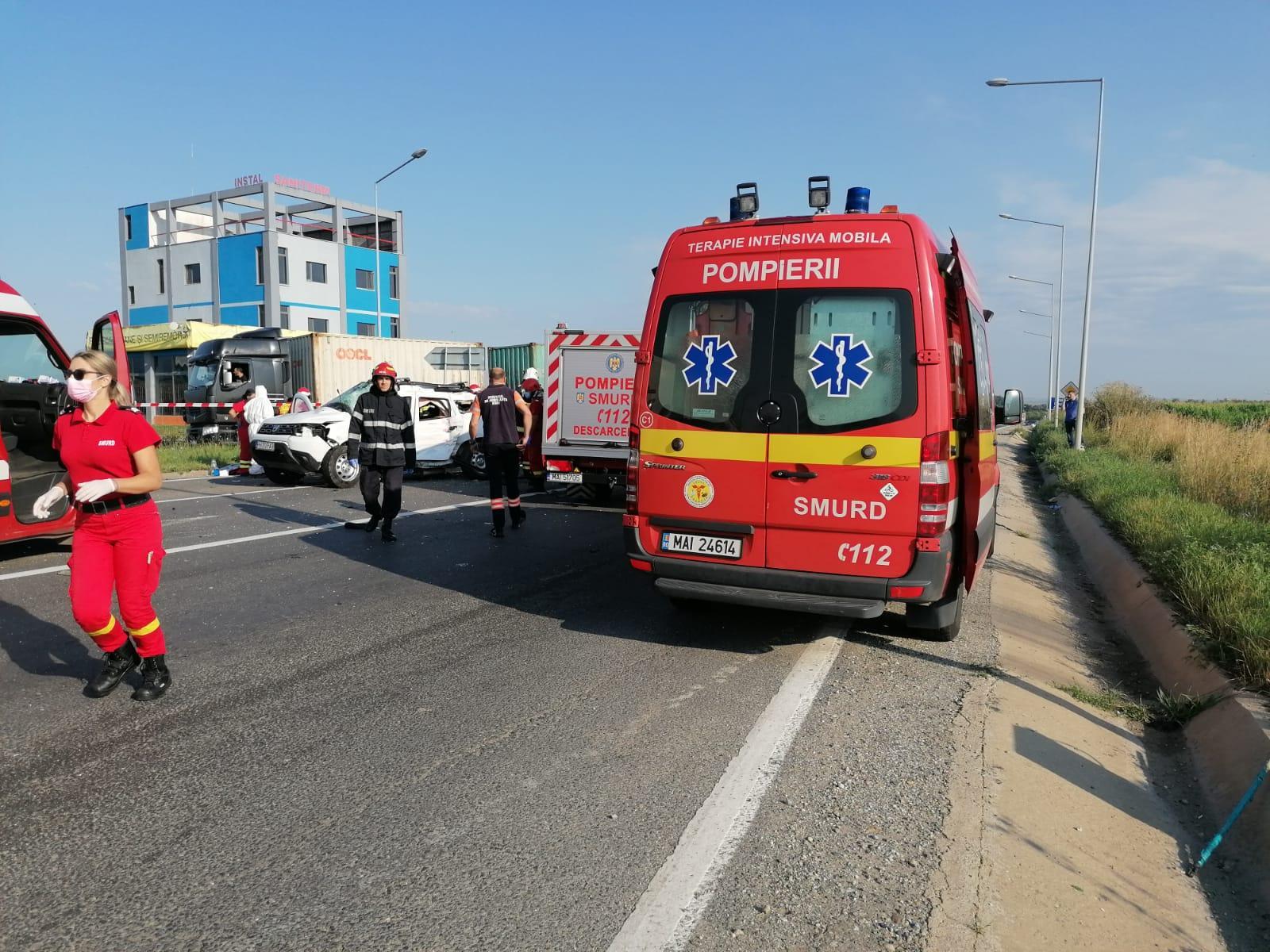 Accident în Sibiu