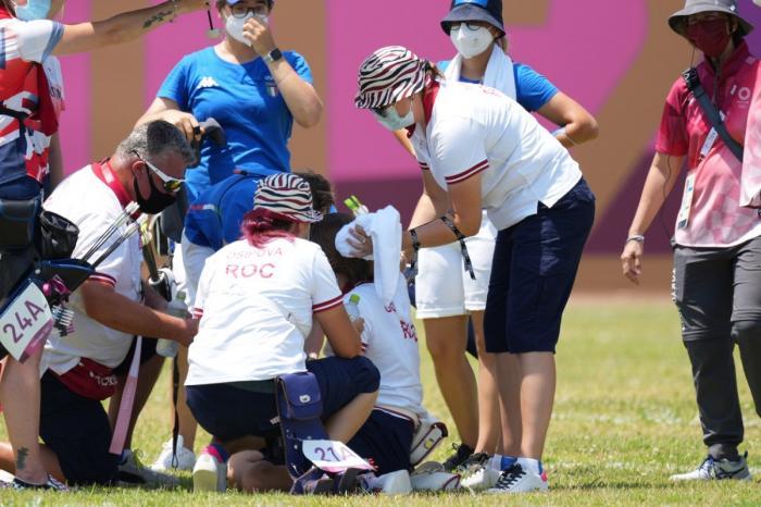 Sportiva a leşinat din cauza temperaturilor extrem de ridicate