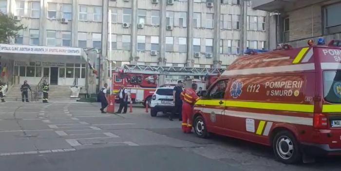 Incendiu într-o sală de operație la Spitalul Județean Constanța. Patru medici s-au autoevacuat