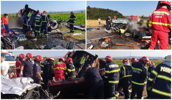 Accident cumplit în Bacău, cu patru morți, între un autoturism și un microbuz. S-a activat Planul roșu de intervenție