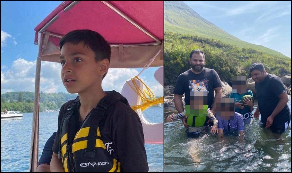 Băiatul de 9 ani, împreună cu tatăl, prietenul de familie şi băieţelul de 7 ani