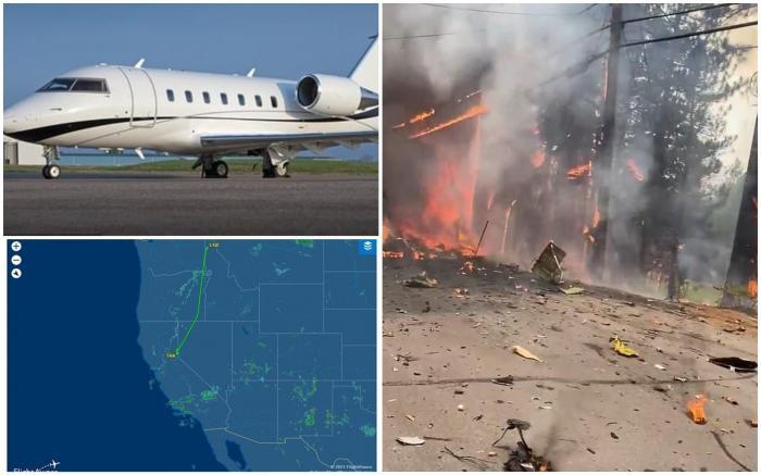Un avion s-a prăbuşit și a explodat în apropierea unui teren de golf, în California.