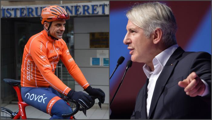 Colaj foto cu ministrul Sportului Eduard Novak şi Eugen Teodorovici (PSD)