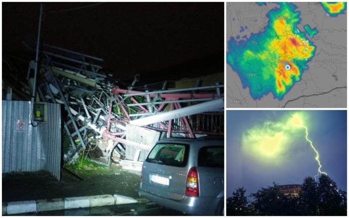 Urmările furtunii din București