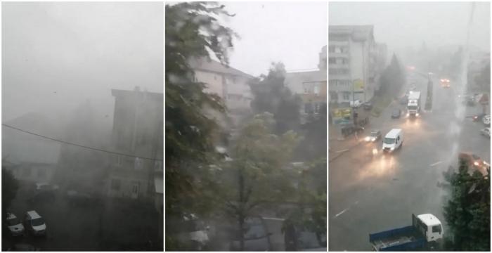 """Ploile torențiale şi vijeliile au făcut ravagii şi în nordul ţării: """"Am auzit un sunet puternic şi îmi zburau panourile prin faţă, pe la geam"""""""