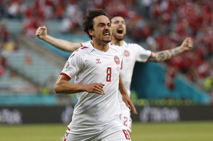 Thomas Delaney a deschis scorul pentru Danemarca