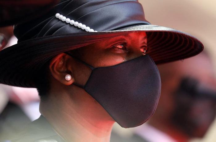 Văduva președintelui haitianla funeraliile sotului ei