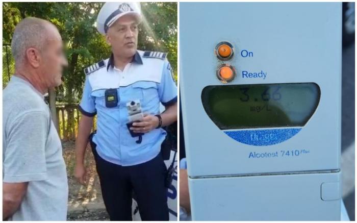 Șofer prins pe o stradă din Galați, cu o alcoolemie de uriașă: 3,66 mg/l alcool pur în aerul expirat