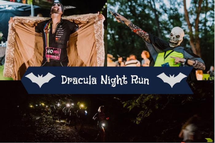 Concurenţii s-au bucurat la maxim de atmosfera de la Dracula Night Run