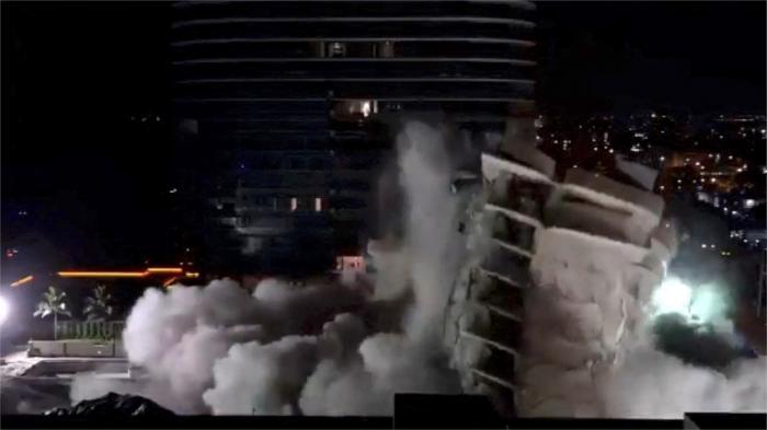 Clădirea din Miami, care s-a prăbușit, provocând moartea a cel puțin 24 de persoane, a fost demolată, înaintea sosirii furtunii Elsa