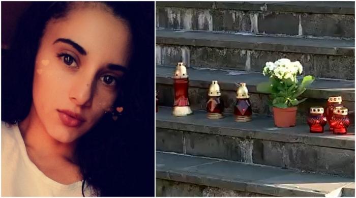 Candele pe treptele Tribunalului Maramureş, după ce şoferul care a omorât o fată cu BMW-ul a fost lăsat în libertate