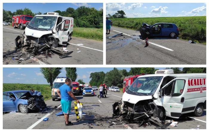 Soţ şi soţie morţi într-un cumplit accident în Iaşi. Momentul impactului surprins de o cameră de bord