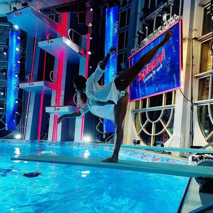 Natalia Duminică, antrenamente în pași de dans Splash! Vedete la apă