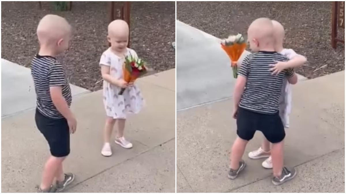 Cei doi copilaşi de trei ani au luptat împreună împotriva cancerului