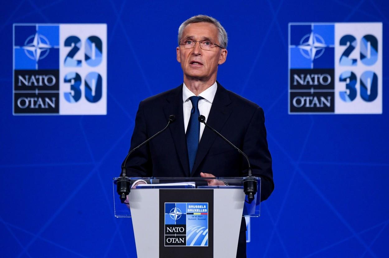 Jens Stoltenberg, declarații de presa la summitul NATO