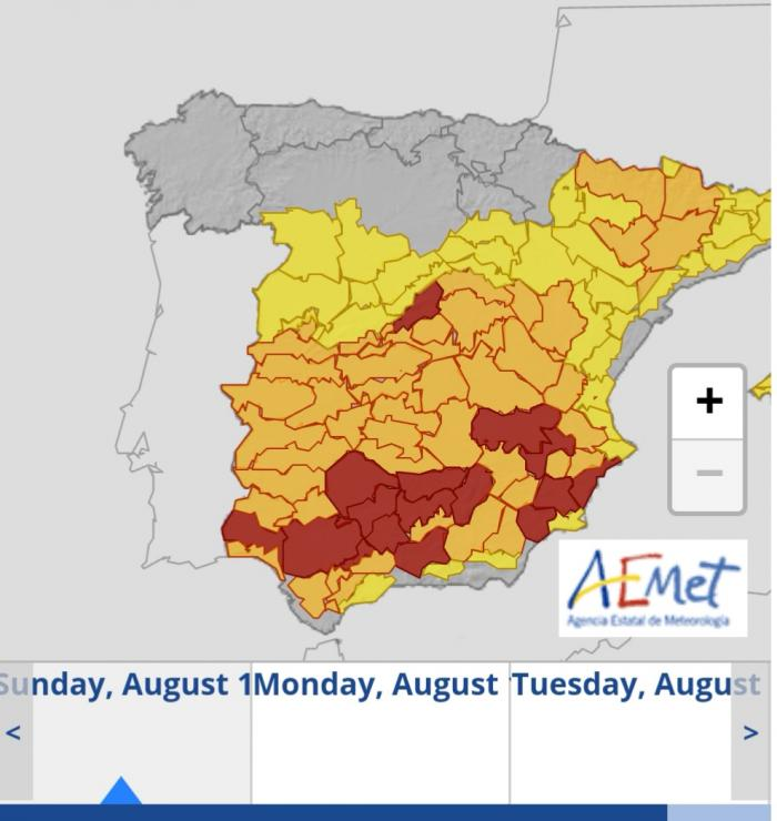 Aproape 50 de grade Celsius în Spania, record termic pentru luna august. Weekend de foc în Peninsula Iberică