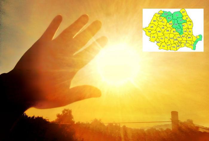 Cod galben de caniculă în Bucureşti şi 34 de judeţe. Urmează două zile cu temperaturi resimţite de peste 40 de grade Celsius
