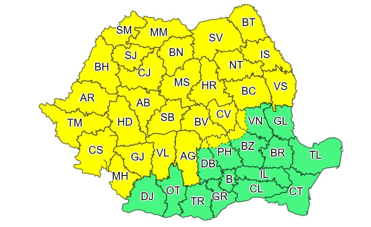 Avertizare meteo Cod Portocaliu: Caniculă în România, urmată de furtuni cu grindină. Maxime de 41 de grade Celsius