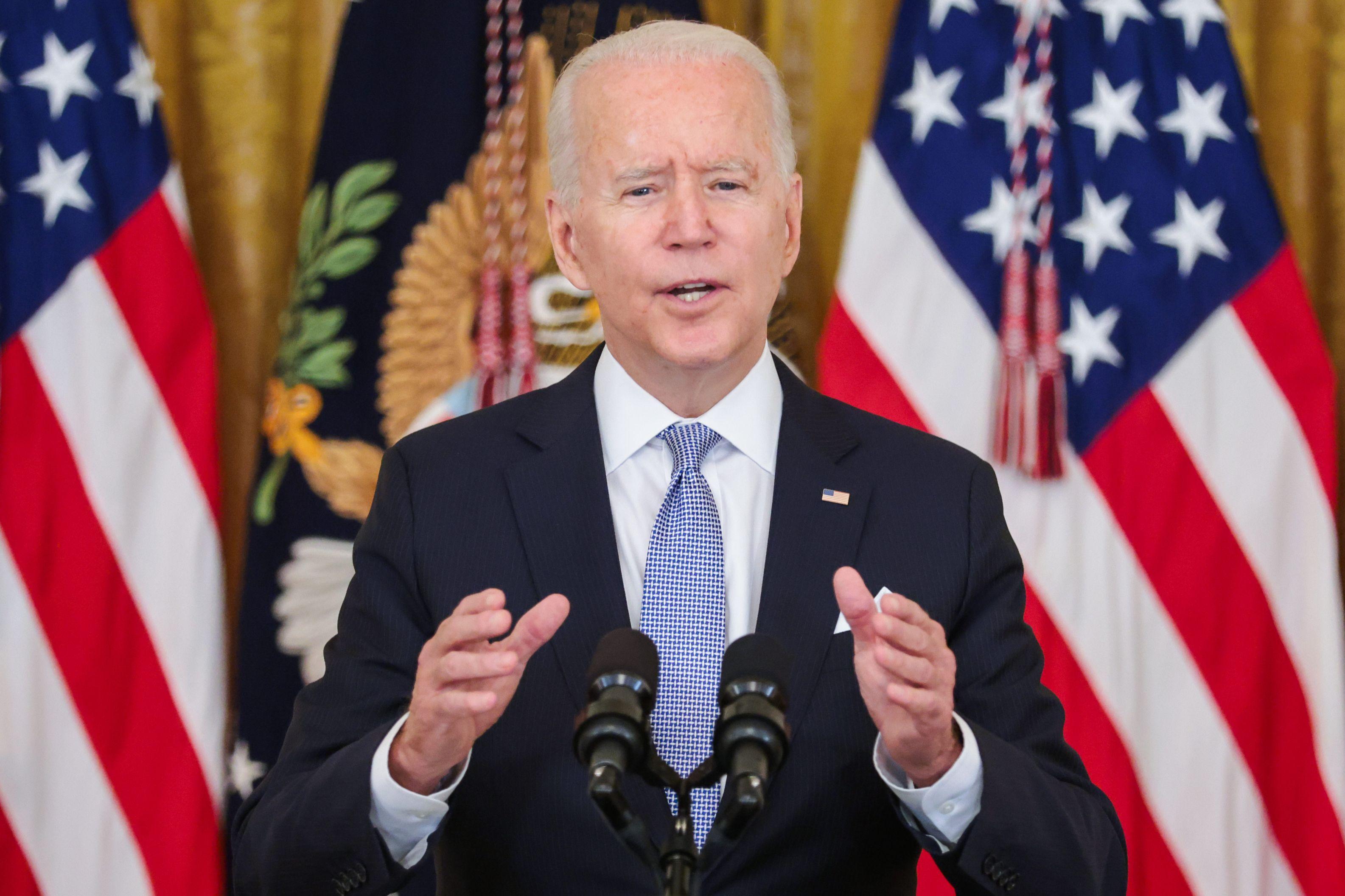 Președintele SUA Joe Biden, la o conferința de presă