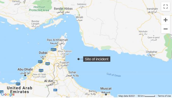 Hartă cu zona în care Marea Britanie ar fi semnalat noul incident maritim