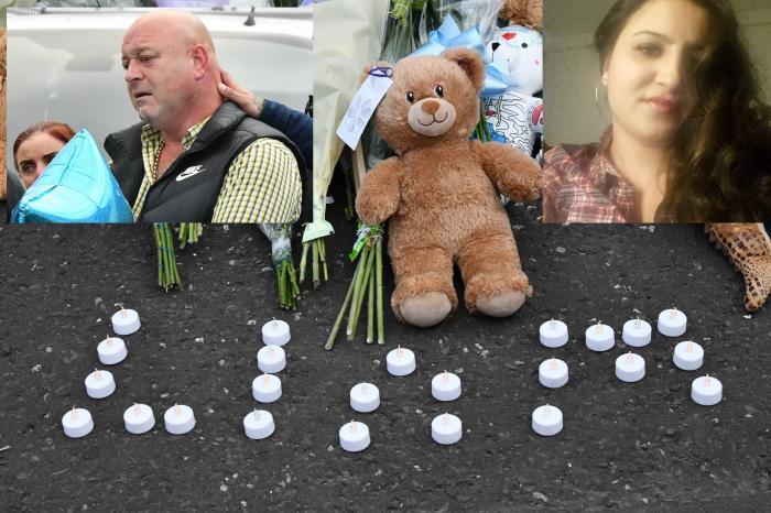 Bebeluşul de două luni, ucis de mama româncă a fost înmormântat în Belfast. Tatăl i-a purtat sicriul pe brațe