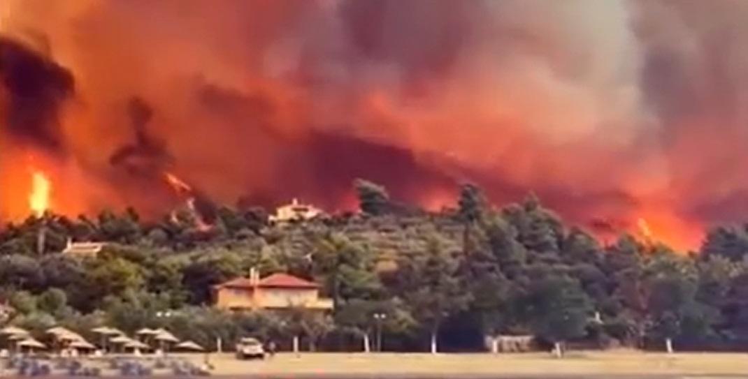 """""""Unde este Mănăstirea Sfântul David a ars totul"""". Flăcările au mistuit totul în cale"""