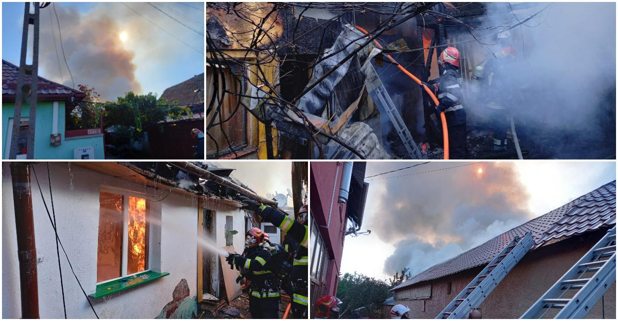 Incendiul a cuprins mai multe locuin'e