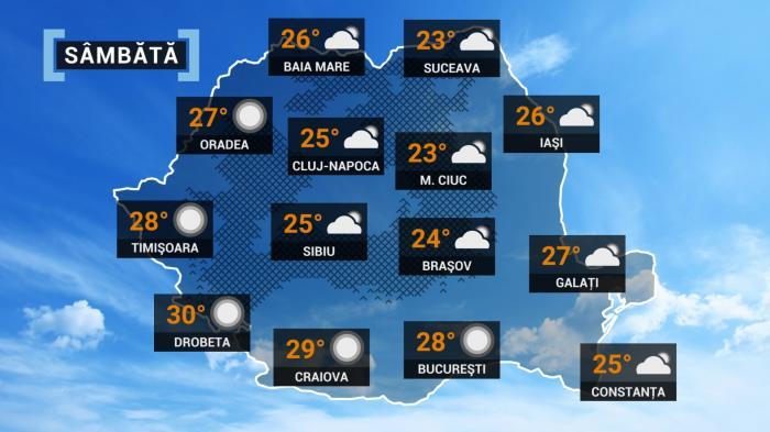 hartă meteo - prognoza meteo 11 septembrie 2021