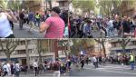 """VIDEO. Bătăi violente de stradă la un protest fată de permisul de sănătate în Franţa. """"Vestele galbene"""", atacate cu bâte"""