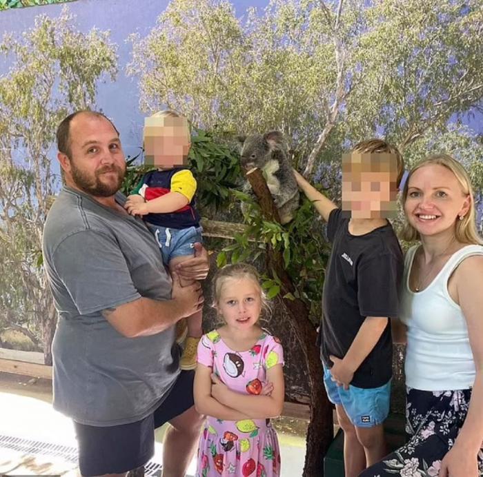 Olivia Stevens, alături de familie