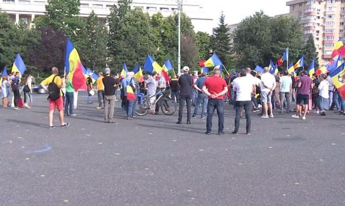 Protest în faţa Guvernului în timpul şedinţei în care s-a decis aprobarea certificatului verde