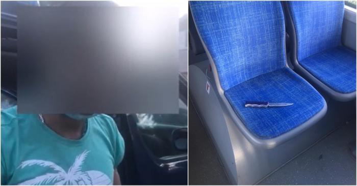 Un tânăr gălăţean, care a scos cuţitul în autobuz în timpul unei dispute cu alţi doi bărbaţi, susţine că avea arma la el ca să taie salamul