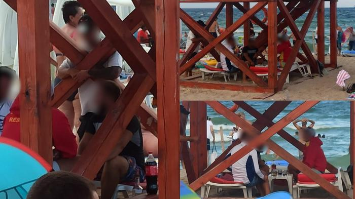 Mai mulţi salvamari din Eforie Nord, surprinşi consumând băuturi alcoolice în timpul programului