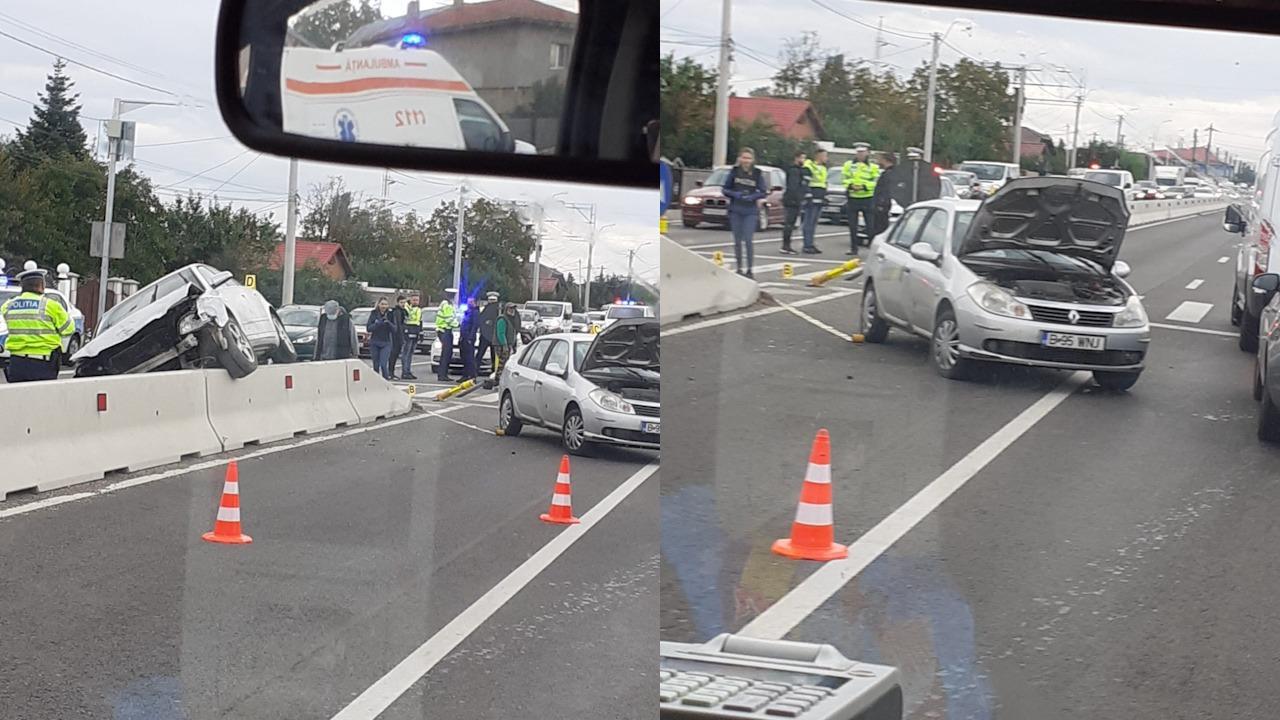 Accident pe DN 1, o victimă a fost transportată de urgenţă la spital