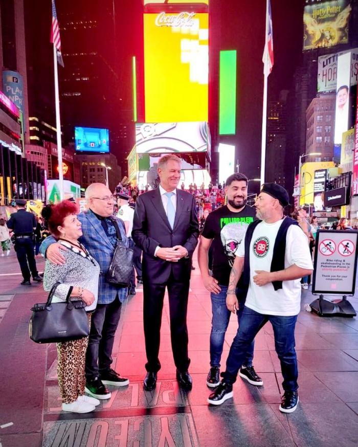 Klaus Iohannis şi Sorinel Pustiu, impreuna la New York