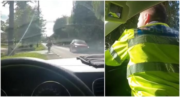 """Polițiști din Covasna, glume proaste pe seama trecătorilor: """"Treci pe partea ailaltă! Eşti prea mare, nu mai vede radarul de tine"""""""