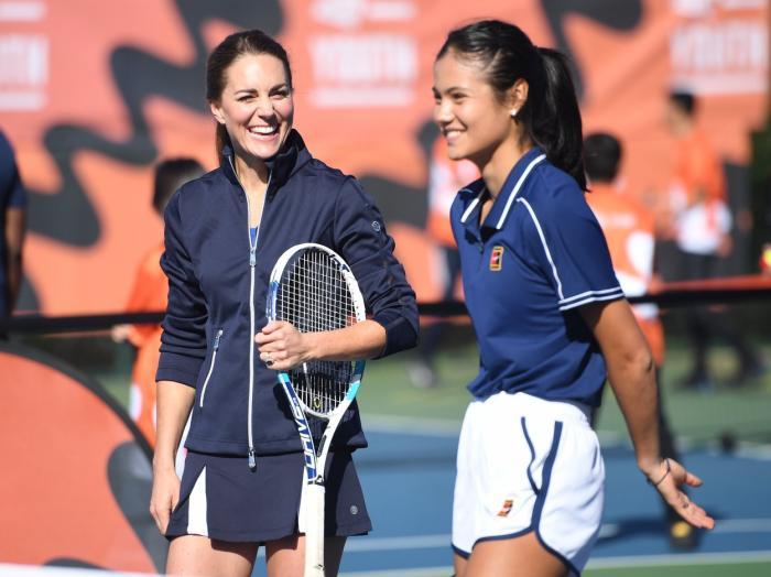 Emma Răducanu a jucat tenis alături de ducesa Kate Middleton - GALERIE FOTO