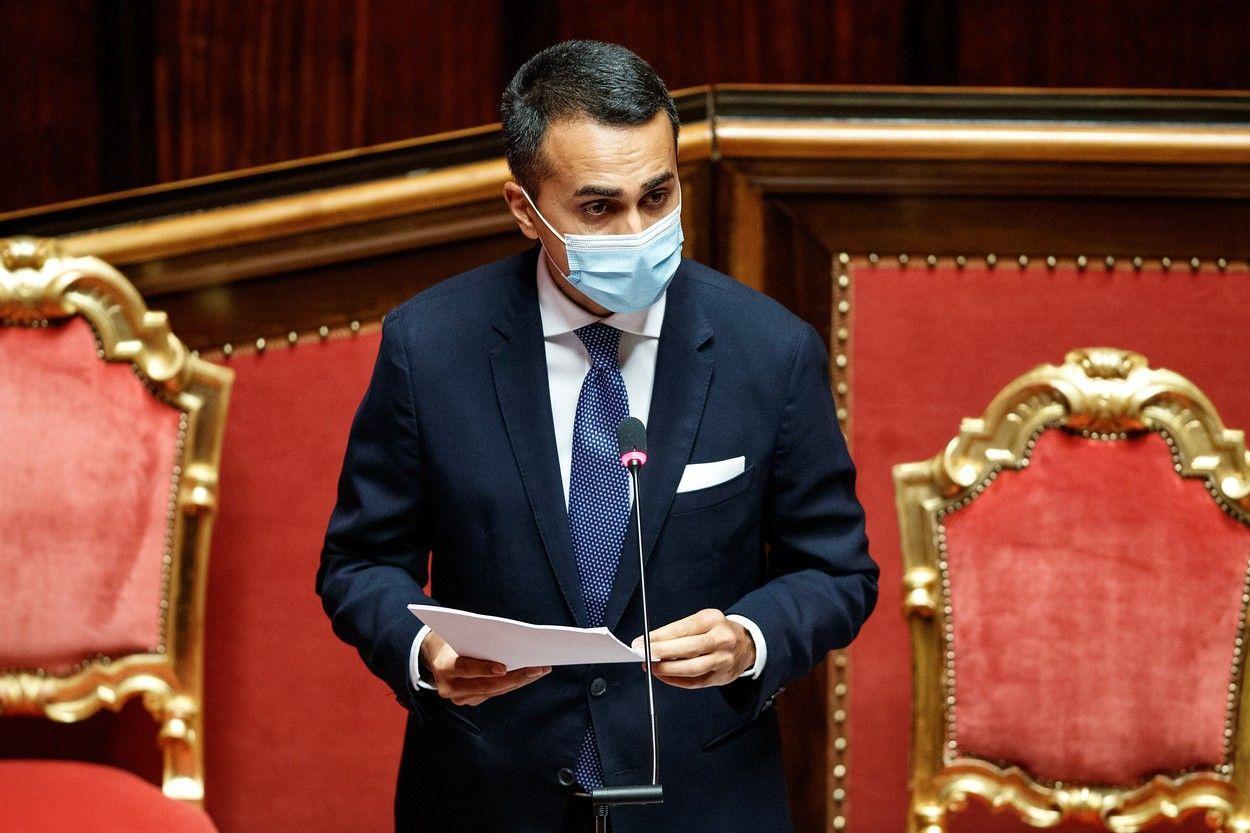 Luigi Di Maio, declarație în Senatul Italiei