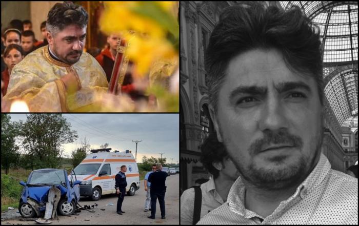 """""""Mă naște viața, mă-nghite cerul"""". Doliu uriaş într-o comună din Botoşani, după ce preotul a murit într-un cumplit accident. Ionuţ avea doar 39 de ani şi a lăsat în urmă cinci copii"""