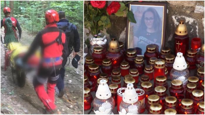 """""""Era o fetiță veselă, respectuoasă"""". Durere mare la Telciu, tatăl copilei găsite fără suflare în râpă a venit din Austria să-și îngroape fiica"""