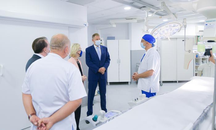 Şefa Comisiei Europene a vizitat luni împreună cu Klaus Iohannis și Florin Cîțu, Spitalul Universitar