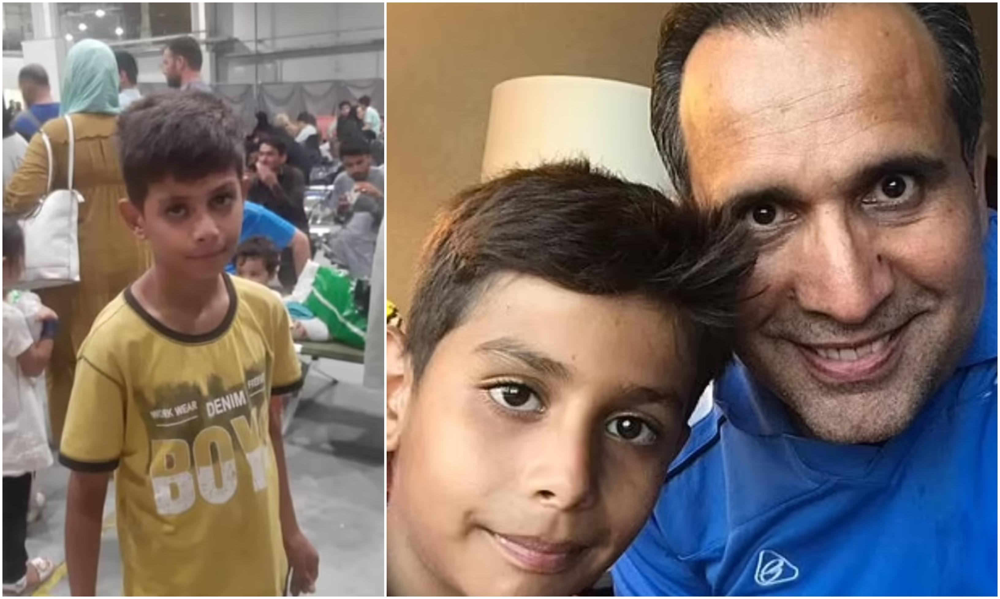 Un băieţel afgan a călătorit 12 zile de la Kabul pentru a-și întâlni părinții adoptivi