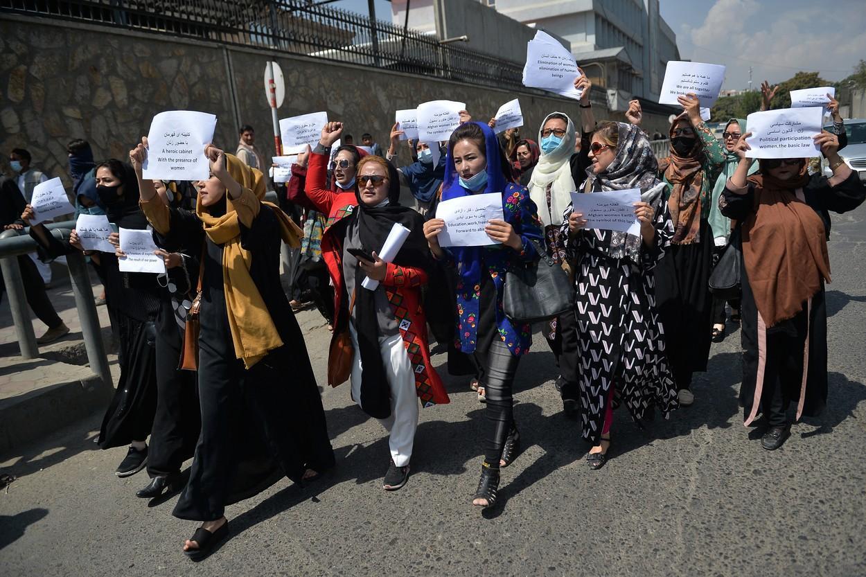 Proteste ale femeilor, în capitala Afganistanului