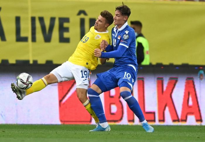 Naţionala României în meciul cu Liechtenstein