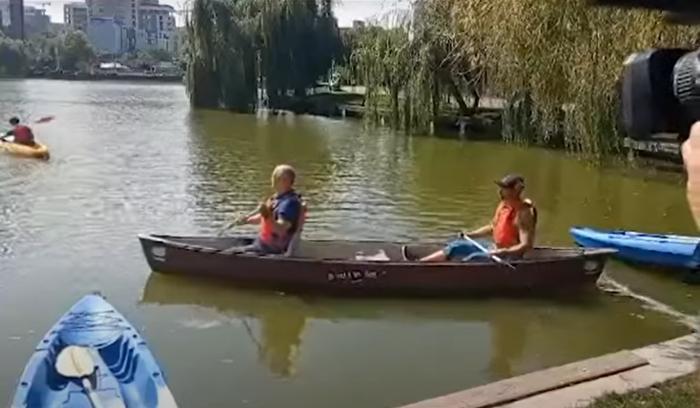 Emil Boc pe lacul Georghieni
