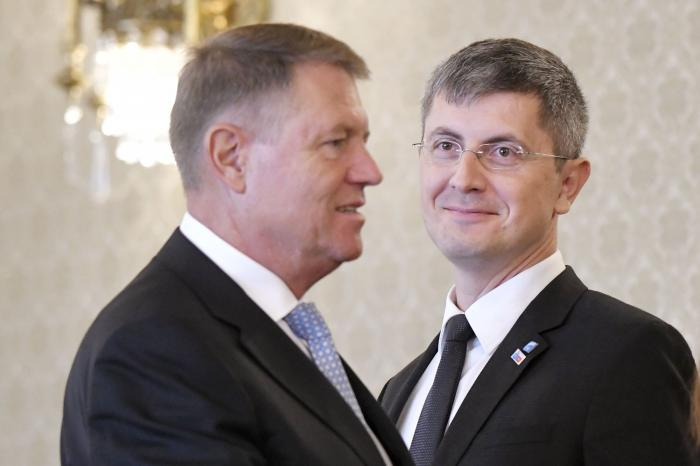 Klaus Iohannis şi Dan Barna, după o întâlnire la Palatul Cotroceni